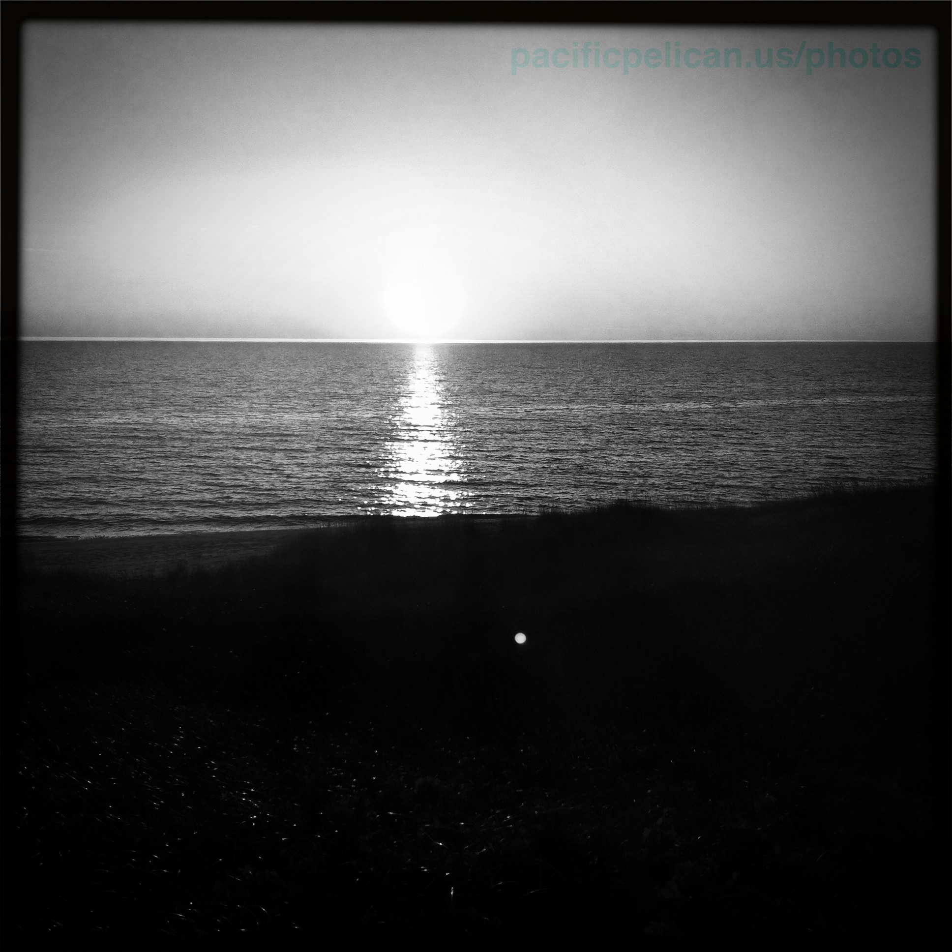 Lake michigan sunset black and white pacificpelican us photos